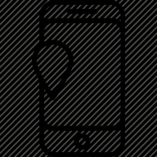 gps, locator app, map, mobile icon