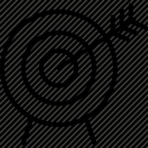 aim, business, dart, dartboard icon