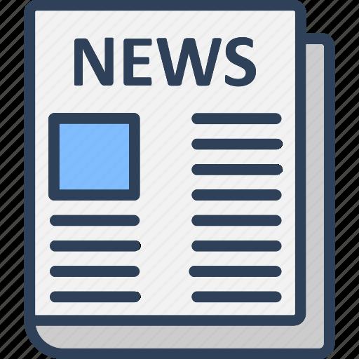 article, media, news, print media icon