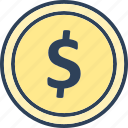 currency, dollar, label, usd icon