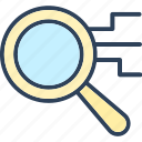 browse, find, magnifier, magnify icon