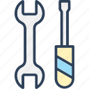maintenance, screwdriver, setting, spanner icon