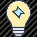 bolt, bulb, energy, idea, saver icon