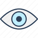 eye, retina, sight, vision icon