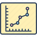 business chart, chart, diagram, graph, growth icon