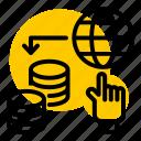 paid, click, hand, marketing