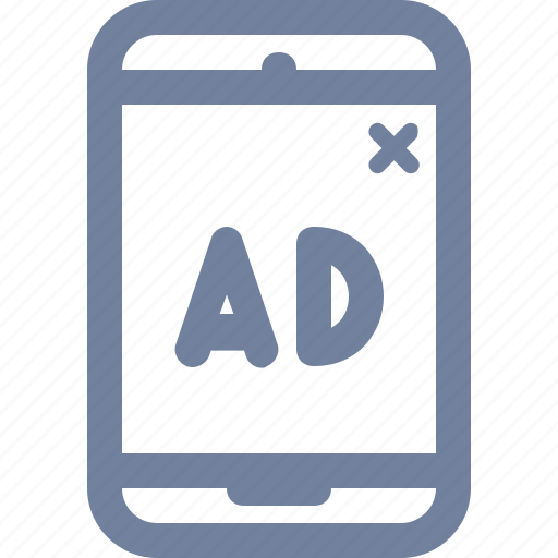 ad, advert, interstitial, marketing, mobile, phone, pop-up icon
