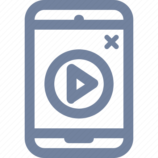ad, advert, marketing, mobile, phone, pop-up, video icon