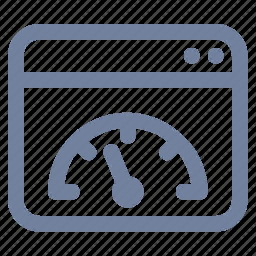 bandwidth, browser, gauge, meter, speed, speedometer, window icon