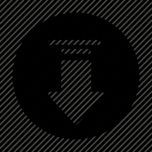 arrow, chevron, down, download, pointer icon