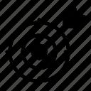 aim, focus, goal, success, target icon