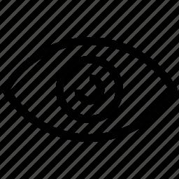 eye, retina, sight, view, visible icon