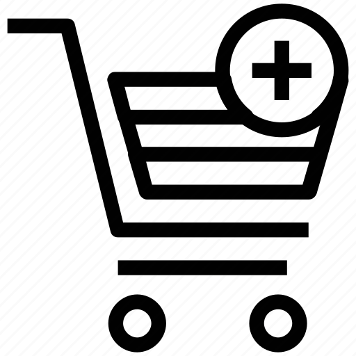 add product, add shopping, add to cart, cart, checkmark, plus sign icon