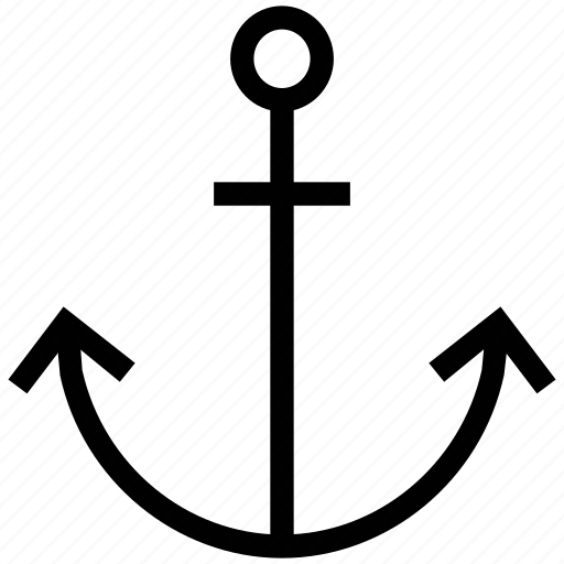 anchor, boat anchor, marine, nautical, secure, yacht anchor icon