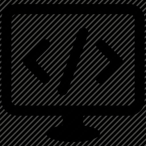 code, computer programming, html, programming, programming language, syntax icon