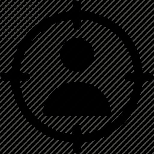 focusing target, man and target, target dummy, targeting person, user target icon