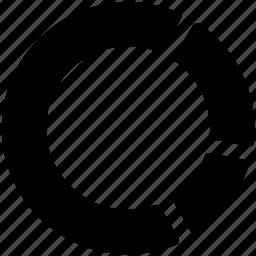 circular chart, diagram, doughnut chart, graph, pie chart icon