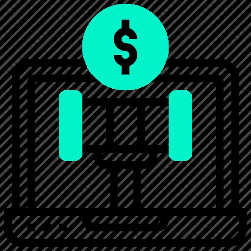 auction, bids, internet, online, sale icon