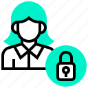 information, lock, personal, privacy, security icon
