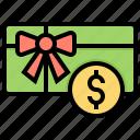 card, gift, money, online, voucher icon