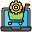 back, end, online, purchase, shopping icon