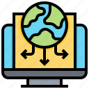 distribution, global, information, online icon
