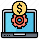 cost, money, online, search, system icon