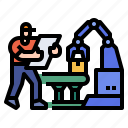 factory, worker, produce, industry, manufacture icon