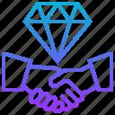 company, cooperate, credibility, premium, team icon