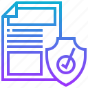 approve, document, product, security, warranty icon
