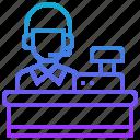 assistant, cashier, sale, service, checkout icon