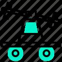 cart, handcar, pump, railroad, trolley icon