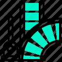 chopper, rail, switch, track, turnout icon