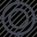 bulls, eye, money, online, target icon