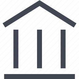 bank, home, loan, money, online icon