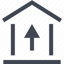equity, good, home, money, online, up icon