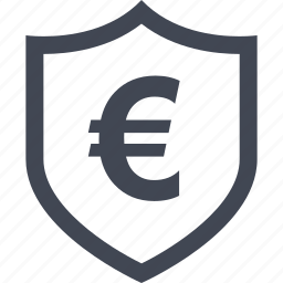 certified, euro, home, money, online, sign icon