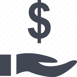 dollar, equity, holding, home, money, online, sign icon