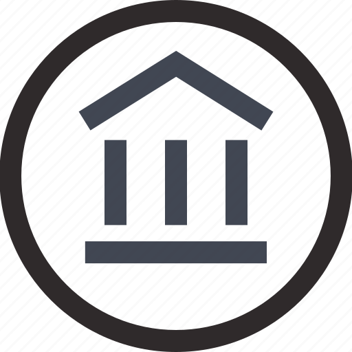 circle, home, housing, money, online icon