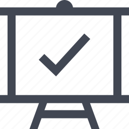 board, check, mark, online icon
