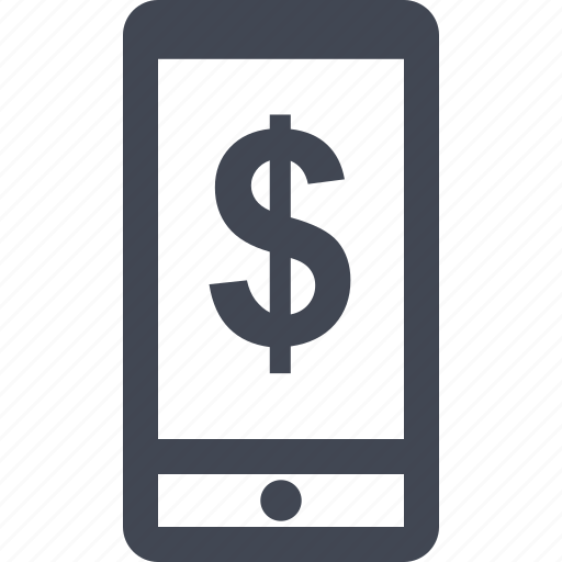 cell, money, online, phone icon