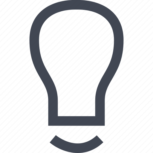 bulb, idea, light, online icon