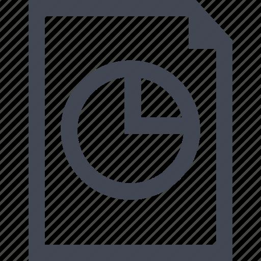 chart, document, online, pie icon