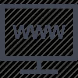 internet, monitor, online, www icon