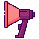 campaign, scream, sound, speaker icon