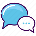 ask, chat, chatting, convertation, talk, tell, telling icon