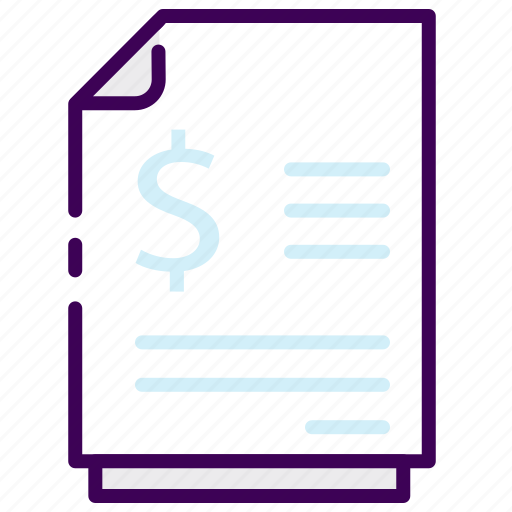 bill, cashbond, invoice, note, paper, payment icon
