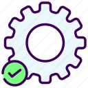 engine, gear, machine, setting, trouble icon