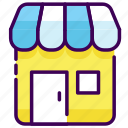 building, market, office, shop, store icon