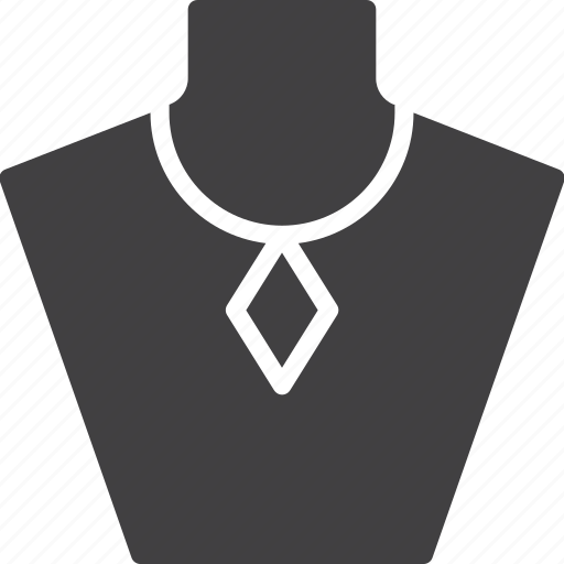 bust, jewelry, necklace icon